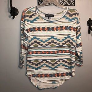 ALMOST FAMOUS ladies boho tribal sweater